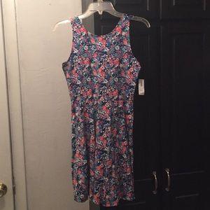 Old Navy Floral Pink Blue Sun Dress Size 14 XL NEW